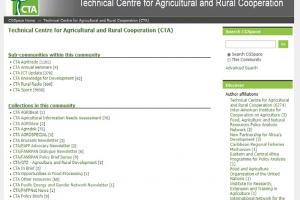 CTA's agricultural research output available on CGSpace