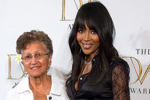 Tafunai and Naomi Campbell at the awards ceremony